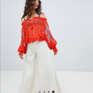 Jubilee Sheer Embroidered Top from Free People